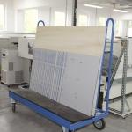 Fertig belichtete Druckplatten