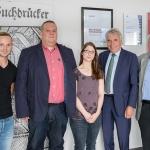 Florian Dal-Molin, Heiko Mazur, Angela Tanski, Jürgen Roters und Günter Mazur (v.l.n.r.)