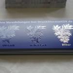 UV-Lack, Relief-Lack und Silber-Folie