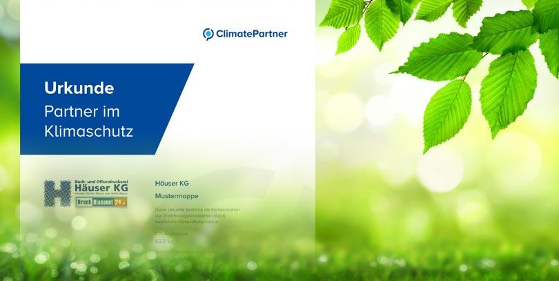 Herstellung Klimaneutraler Druckprodukte Druckerei Häuser