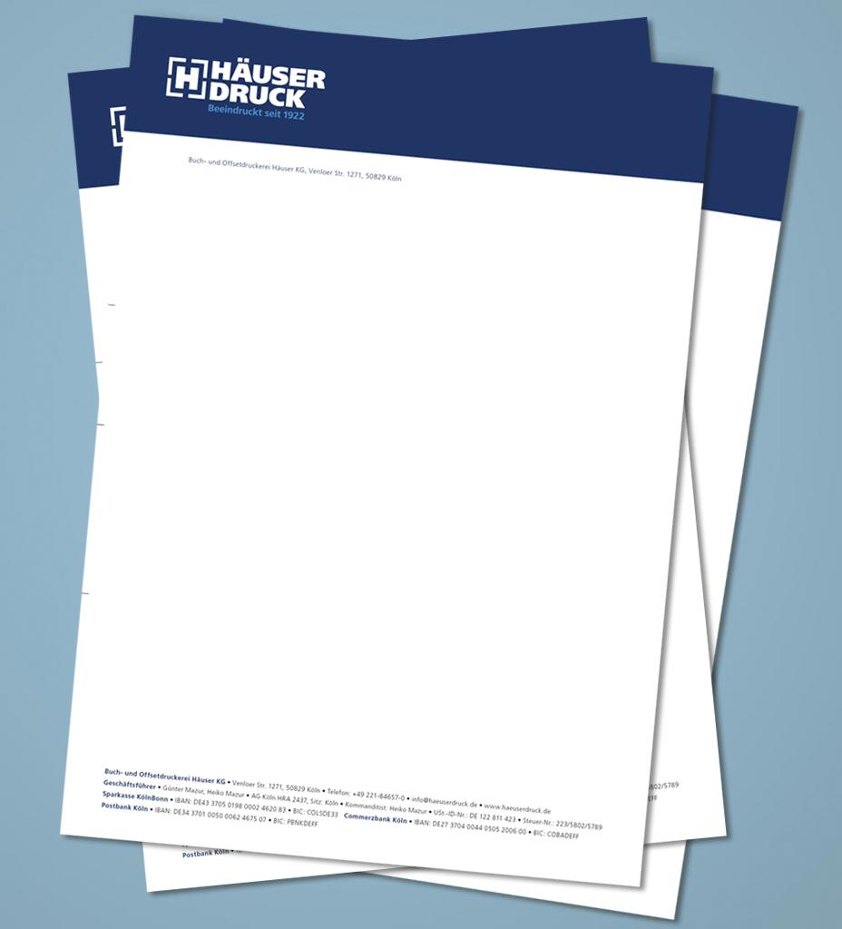 briefpapier farbig bedruckt